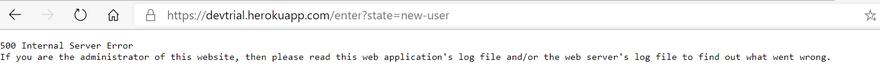 Error in Browser