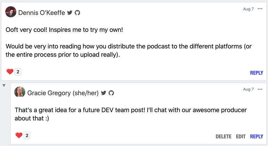 Podcast Comment