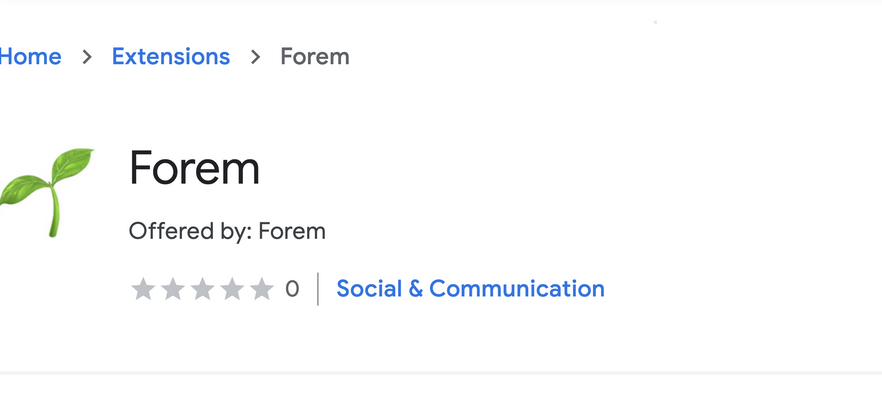 Cover image for The Forem extension is available in the Chrome store