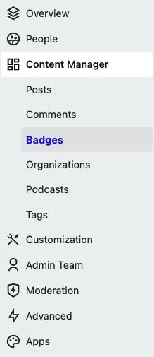 Location of Badges in Admin Navigation bar