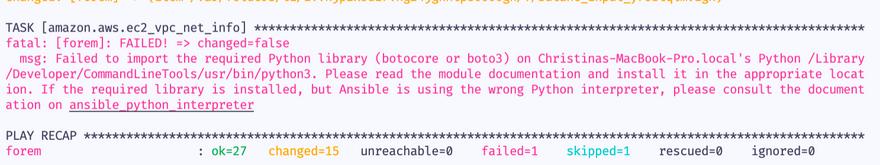 botocore error message
