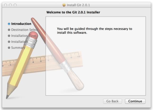 MacOS git installer