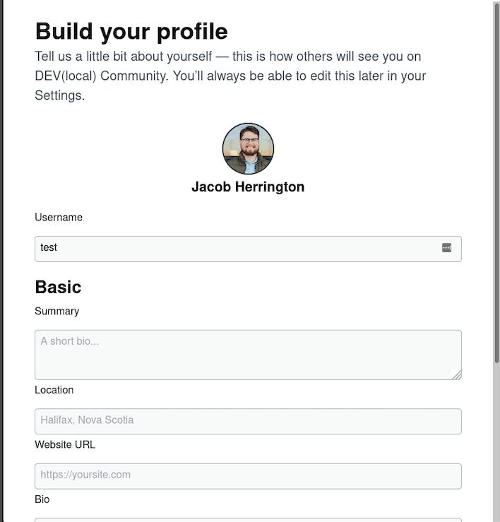 Add username in onboarding form