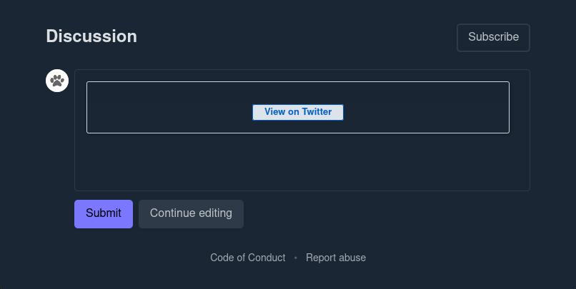 Broken Tweet preview