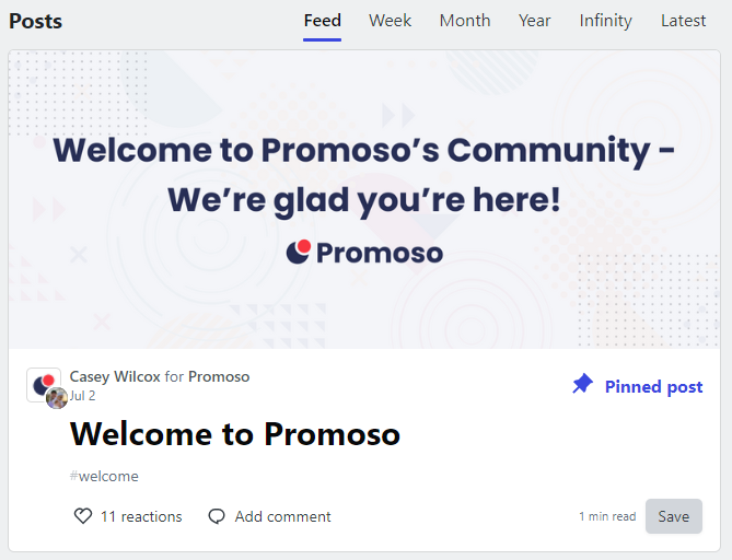 Published welcome thread