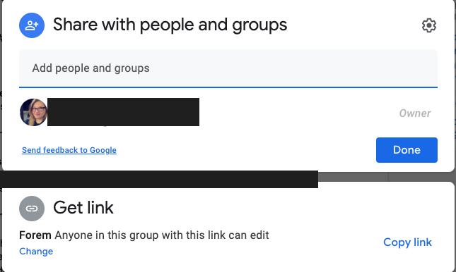 Google doc share permissions
