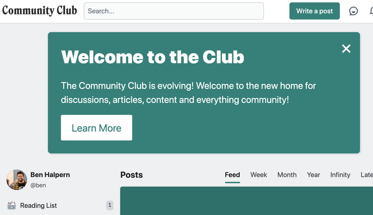 Cover image for Congrats to the.community.club on being the latest Forem to go live!